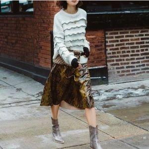 ZARA Ruffle Knit Sweater Mohair Blend Blogger Fav